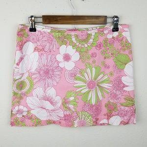 ⭐2/$10 Sale Floral Back Zip Skort Skirt